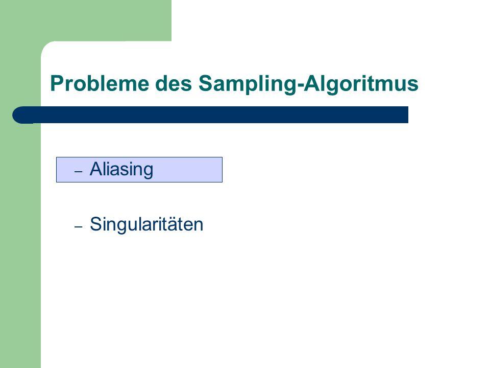 Probleme des Sampling-Algoritmus