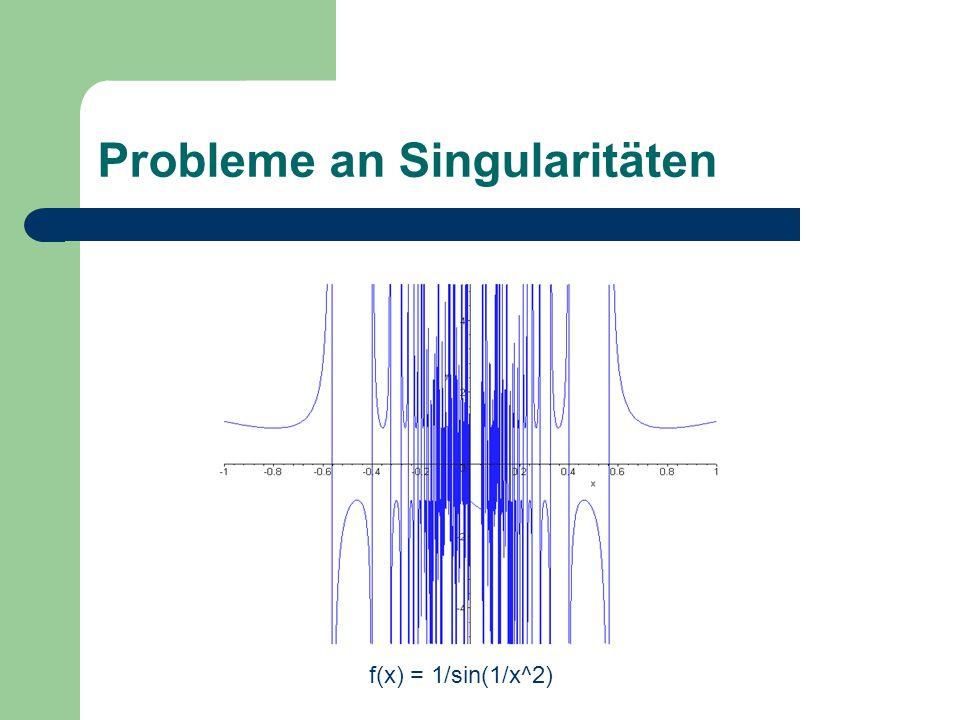 Probleme an Singularitäten