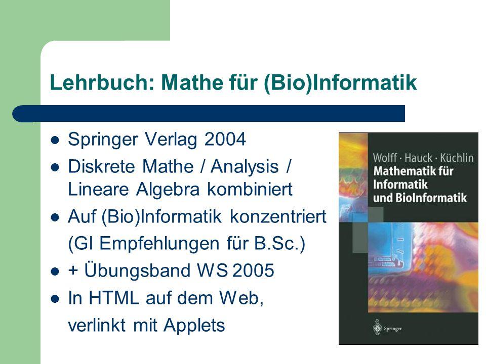Lehrbuch: Mathe für (Bio)Informatik