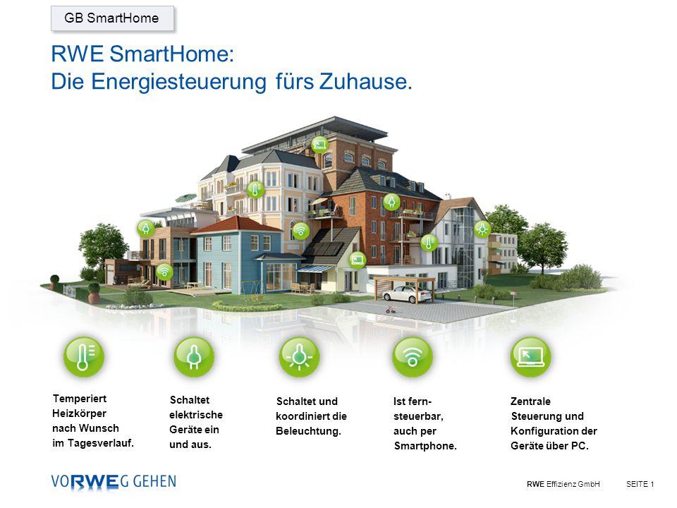 RWE SmartHome: Die Energiesteuerung fürs Zuhause.