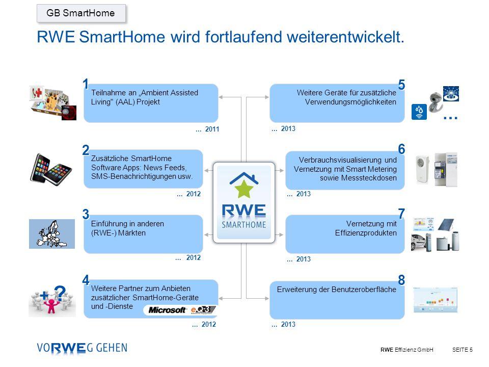 RWE SmartHome wird fortlaufend weiterentwickelt.