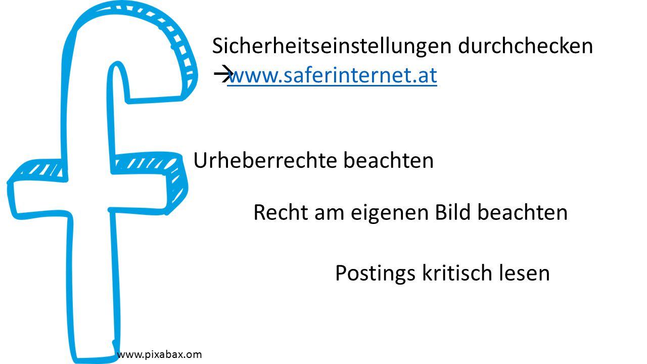 Sicherheitseinstellungen durchchecken www.saferinternet.at