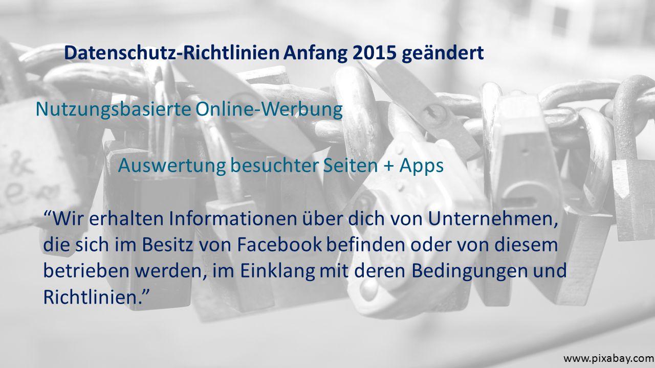 Datenschutz-Richtlinien Anfang 2015 geändert