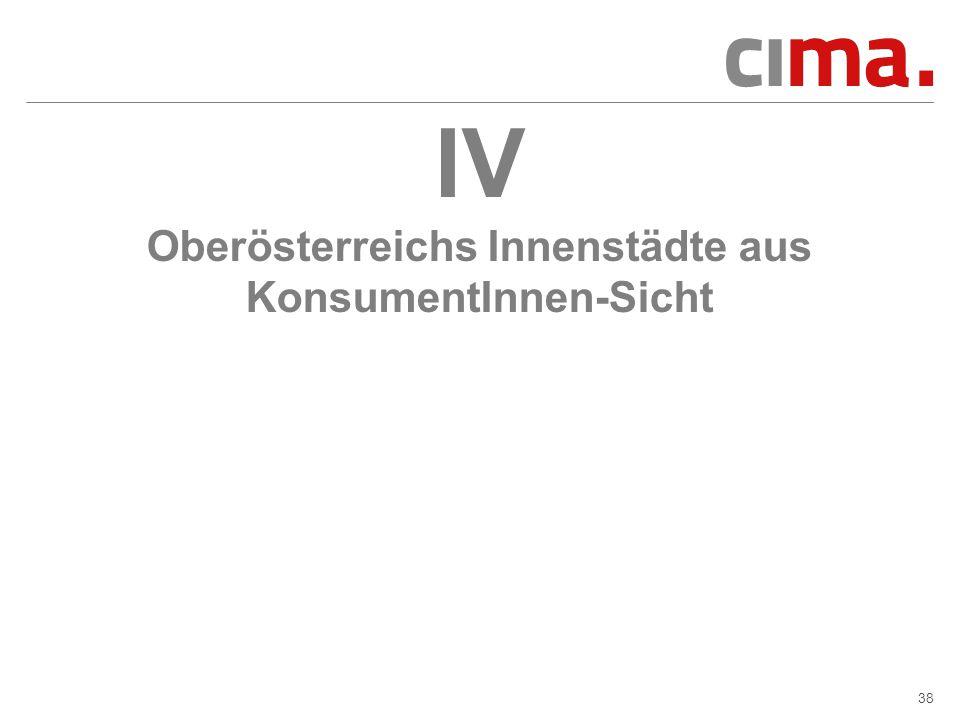 IV Oberösterreichs Innenstädte aus KonsumentInnen-Sicht
