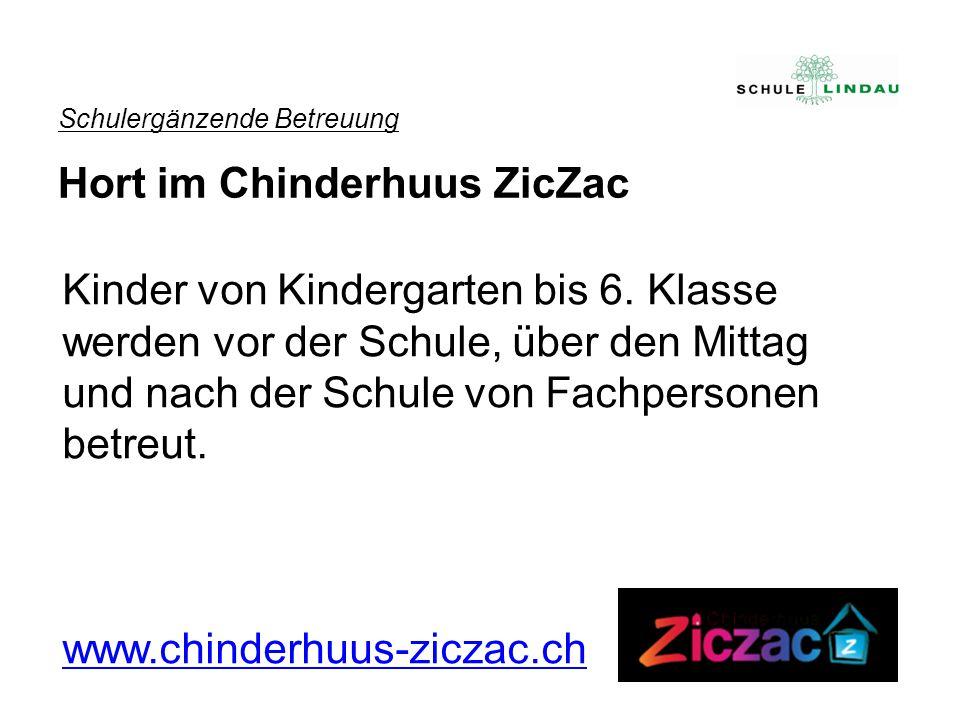 Schulergänzende Betreuung Hort im Chinderhuus ZicZac