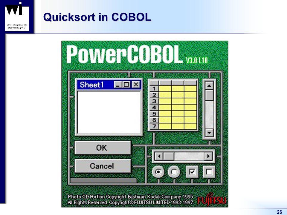 Quicksort in COBOL