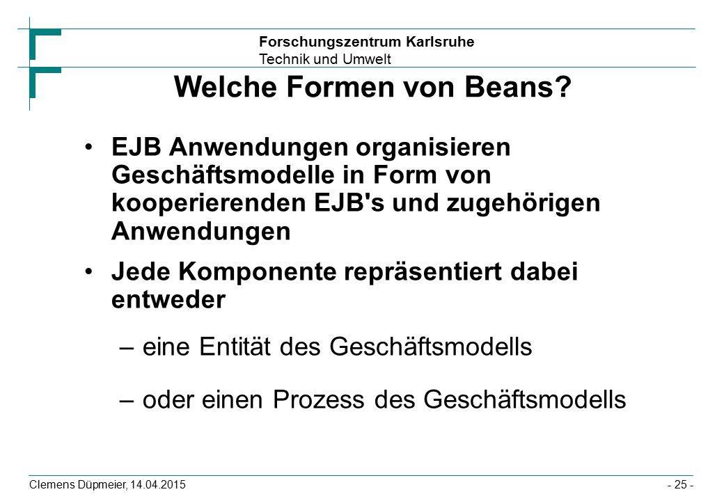 Welche Formen von Beans