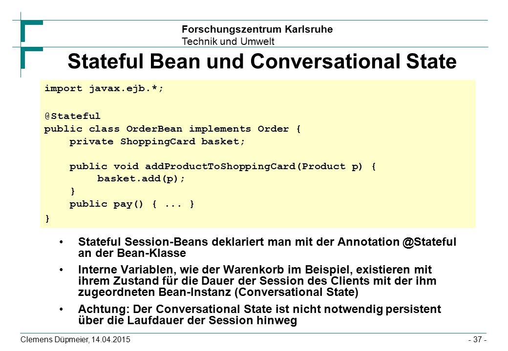 Stateful Bean und Conversational State