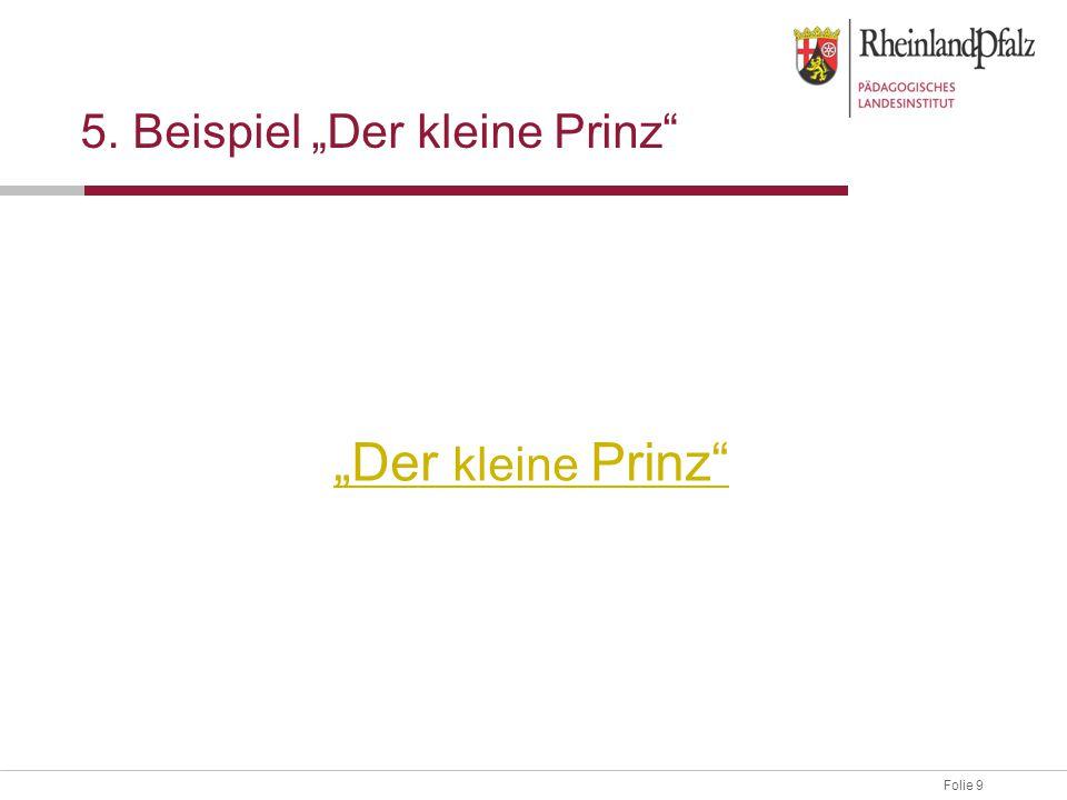 """5. Beispiel """"Der kleine Prinz"""