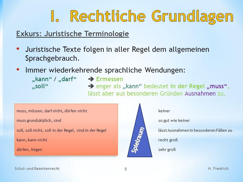I. Rechtliche Grundlagen