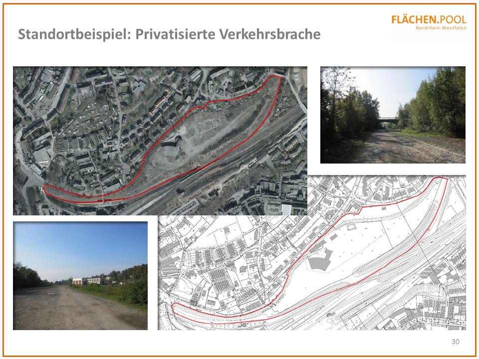 Standortbeispiel: Privatisierte Verkehrsbrache
