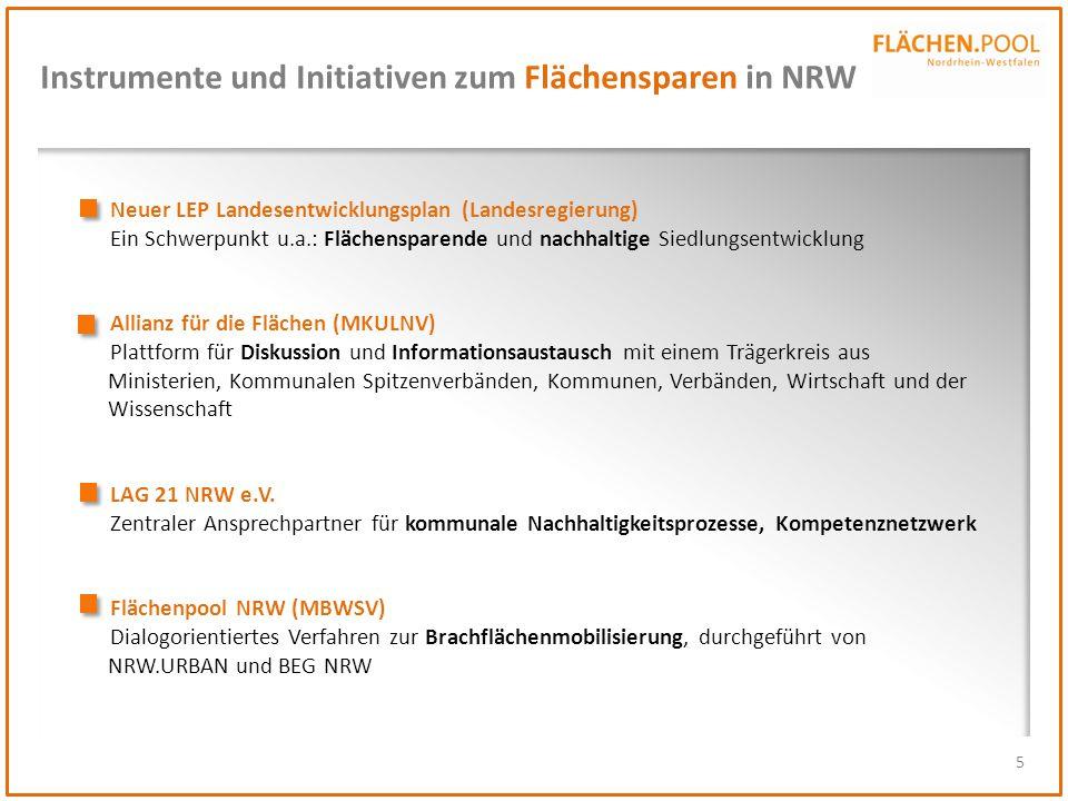 Instrumente und Initiativen zum Flächensparen in NRW