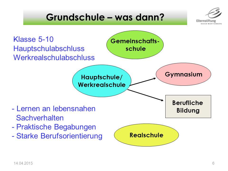 Grundschule – was dann Klasse 5-10 Hauptschulabschluss