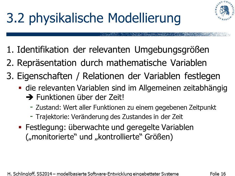 3.2 physikalische Modellierung