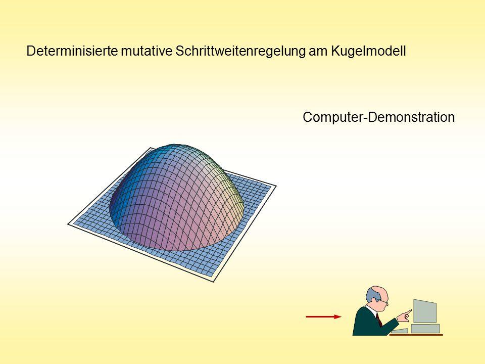 Determinisierte mutative Schrittweitenregelung am Kugelmodell