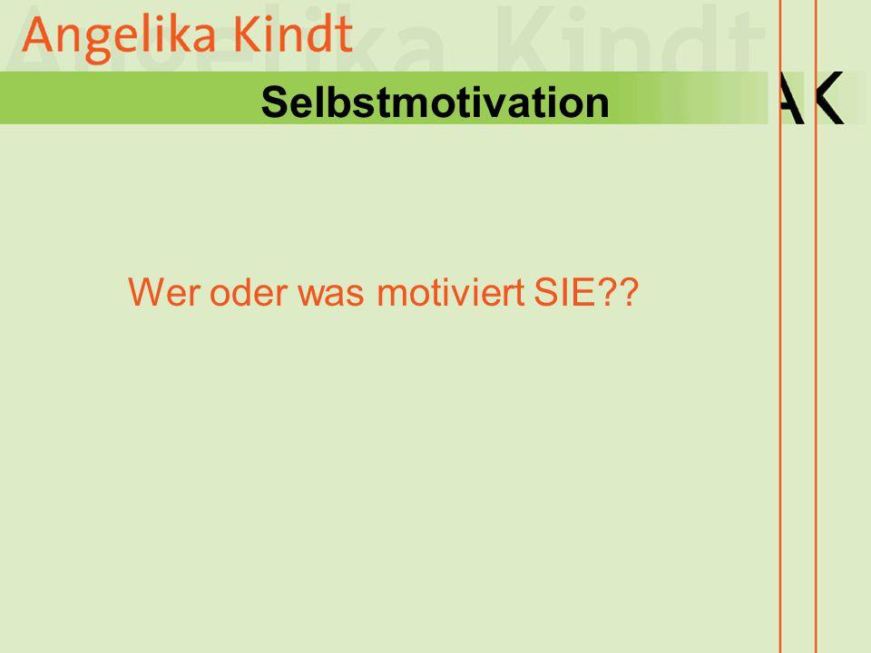 Selbstmotivation Wer oder was motiviert SIE