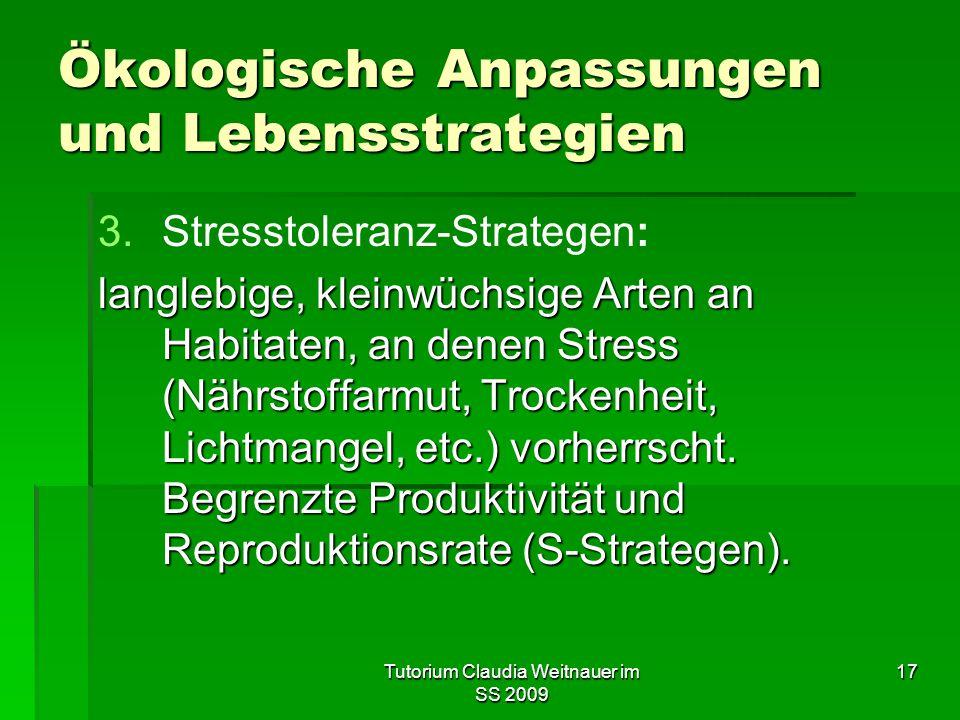 Ökologische Anpassungen und Lebensstrategien