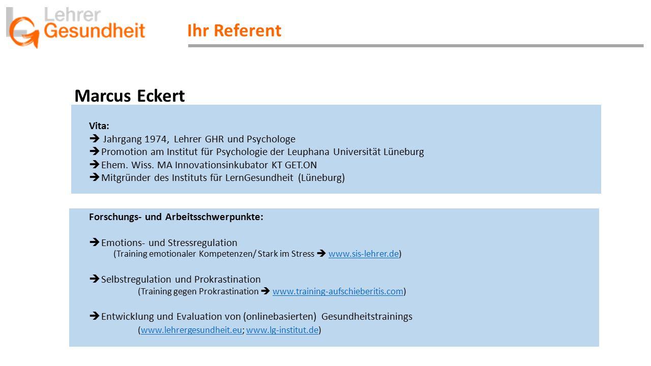 Ihr Referent Marcus Eckert Vita: