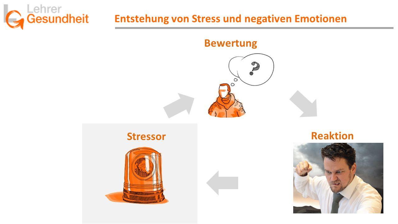 Entstehung von Stress und negativen Emotionen