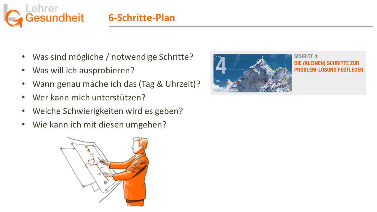 6-Schritte-Plan Was sind mögliche / notwendige Schritte