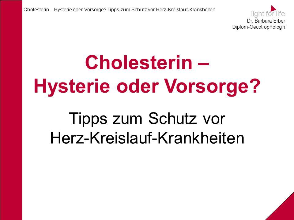 Cholesterin – Hysterie oder Vorsorge