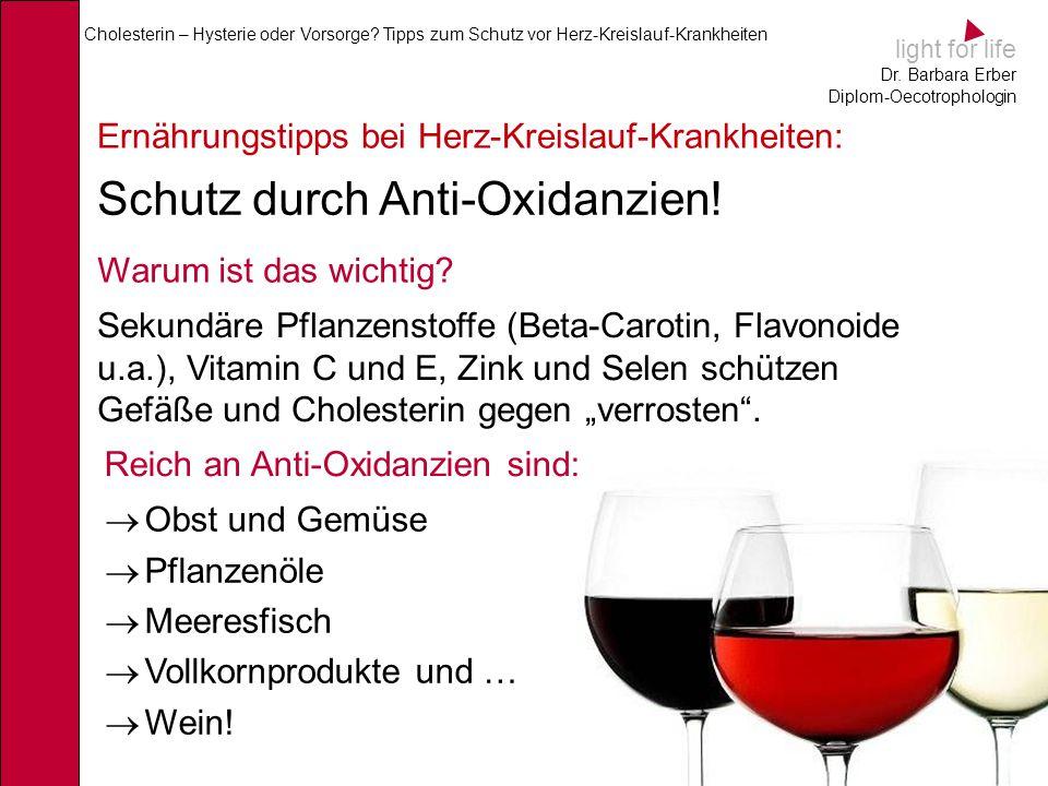 Schutz durch Anti-Oxidanzien!
