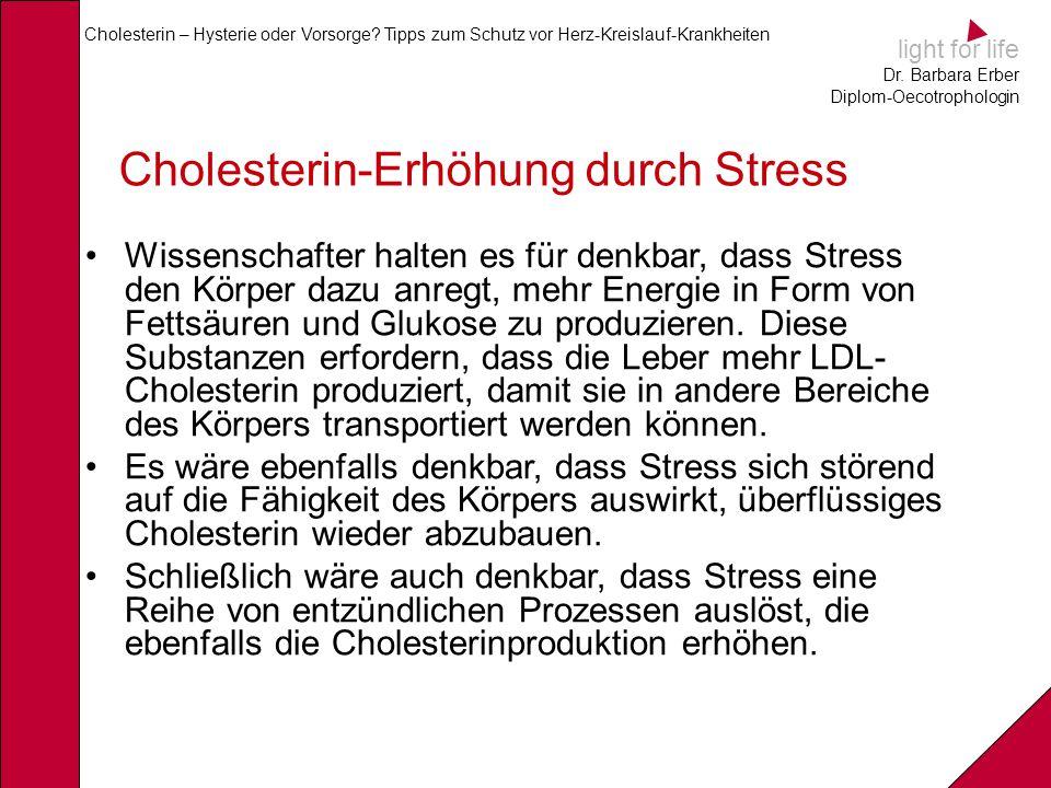Cholesterin-Erhöhung durch Stress