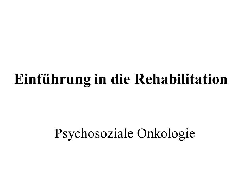 Einführung in die Rehabilitation