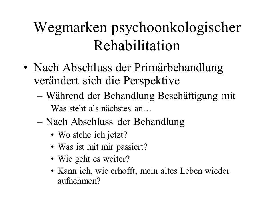 Wegmarken psychoonkologischer Rehabilitation