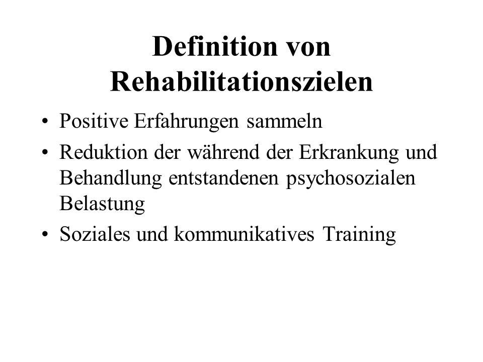 Definition von Rehabilitationszielen