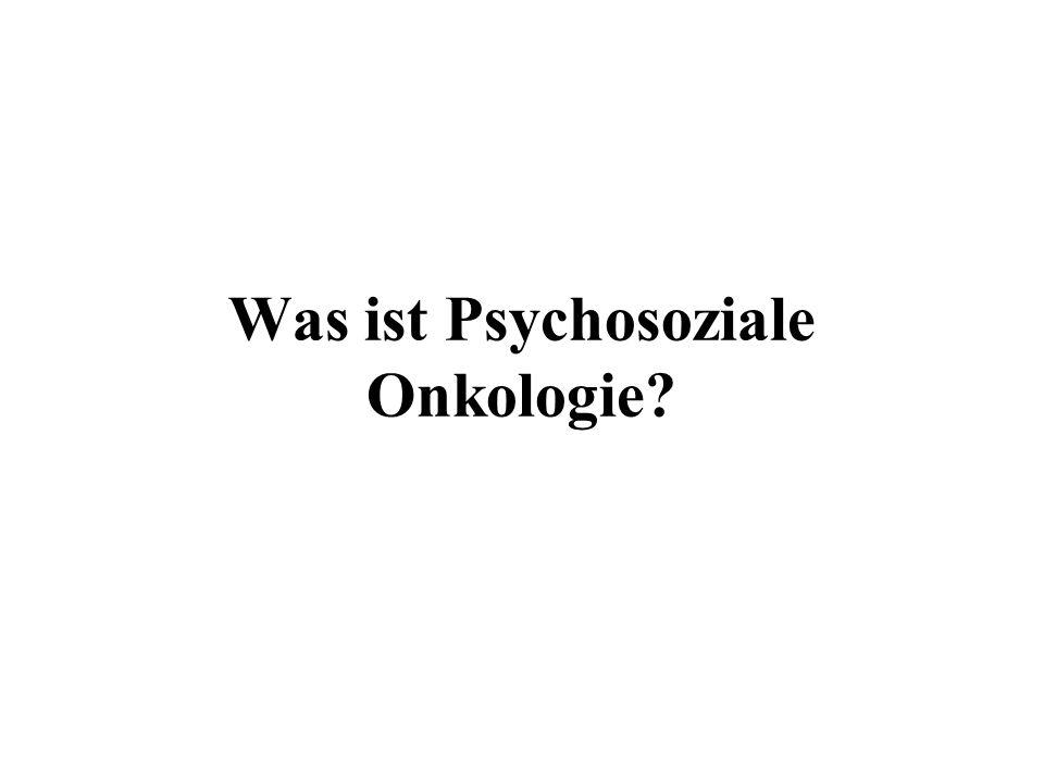 Was ist Psychosoziale Onkologie