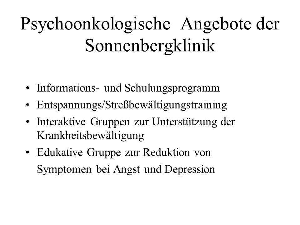 Psychoonkologische Angebote der Sonnenbergklinik