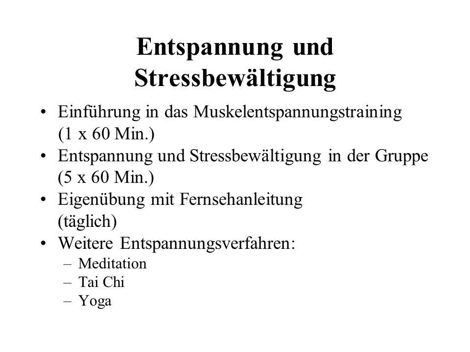 Entspannung und Stressbewältigung