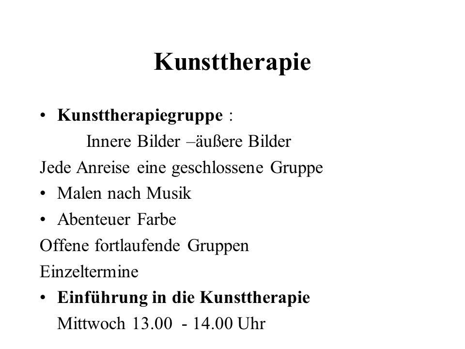 Kunsttherapie Kunsttherapiegruppe : Innere Bilder –äußere Bilder