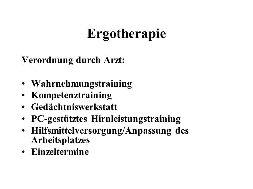 Ergotherapie Verordnung durch Arzt: Wahrnehmungstraining