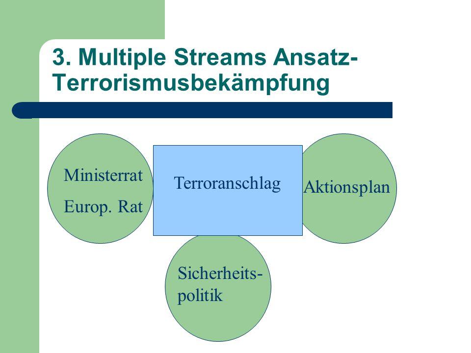 3. Multiple Streams Ansatz- Terrorismusbekämpfung