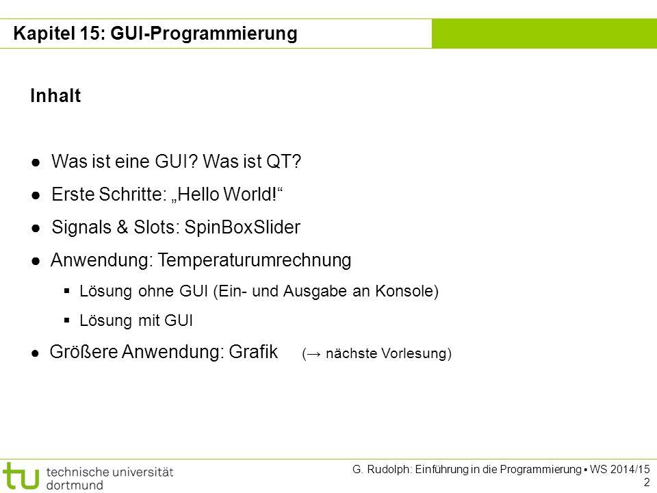 Kapitel 15: GUI-Programmierung