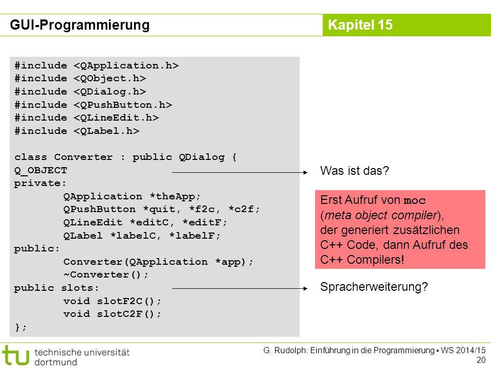GUI-Programmierung Was ist das