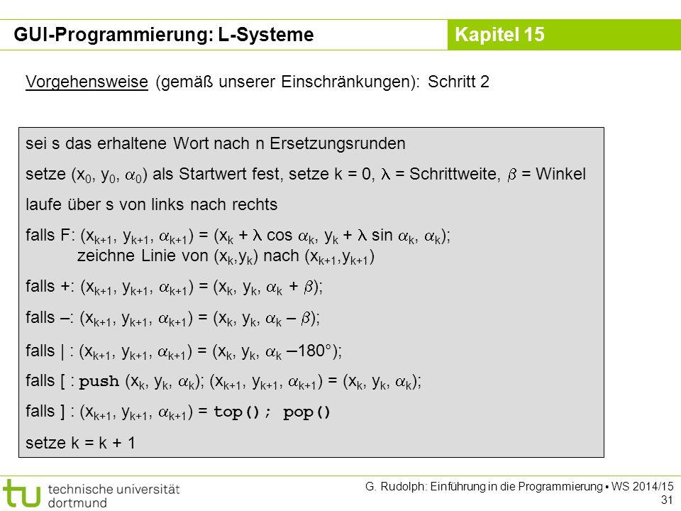 GUI-Programmierung: L-Systeme
