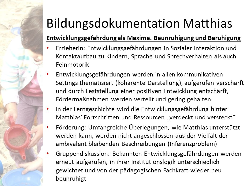Bildungsdokumentation Matthias