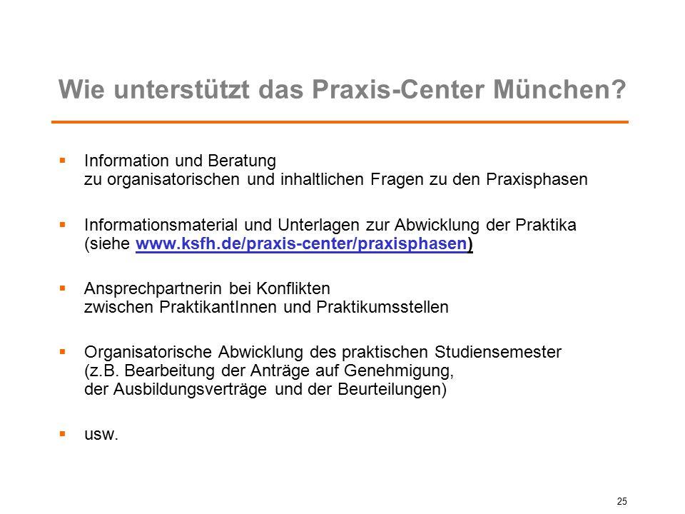 Wie unterstützt das Praxis-Center München