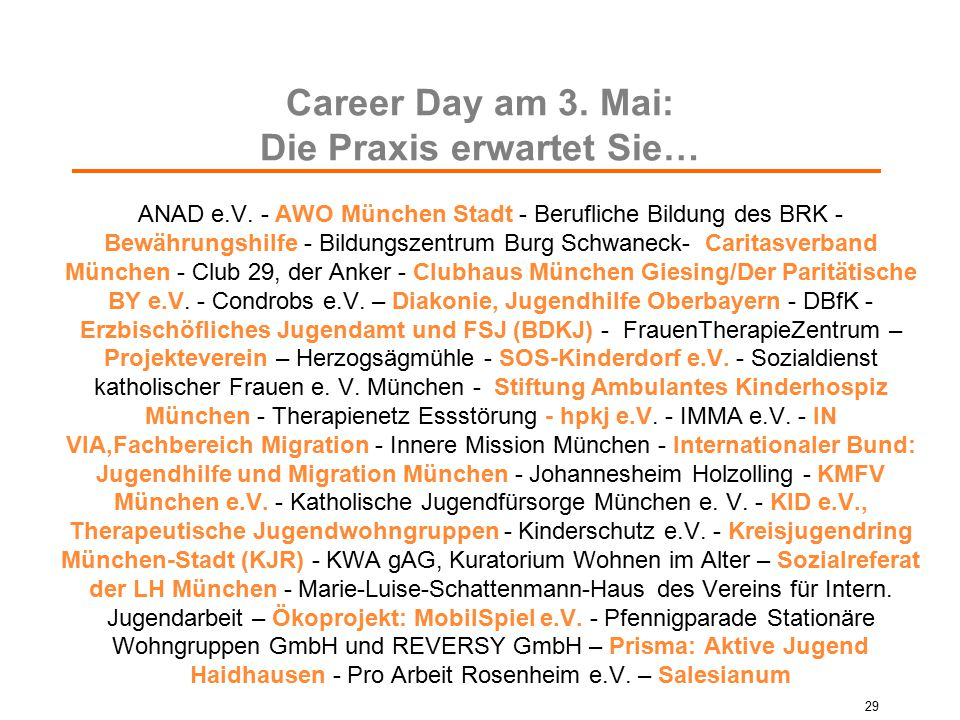 Career Day am 3. Mai: Die Praxis erwartet Sie…