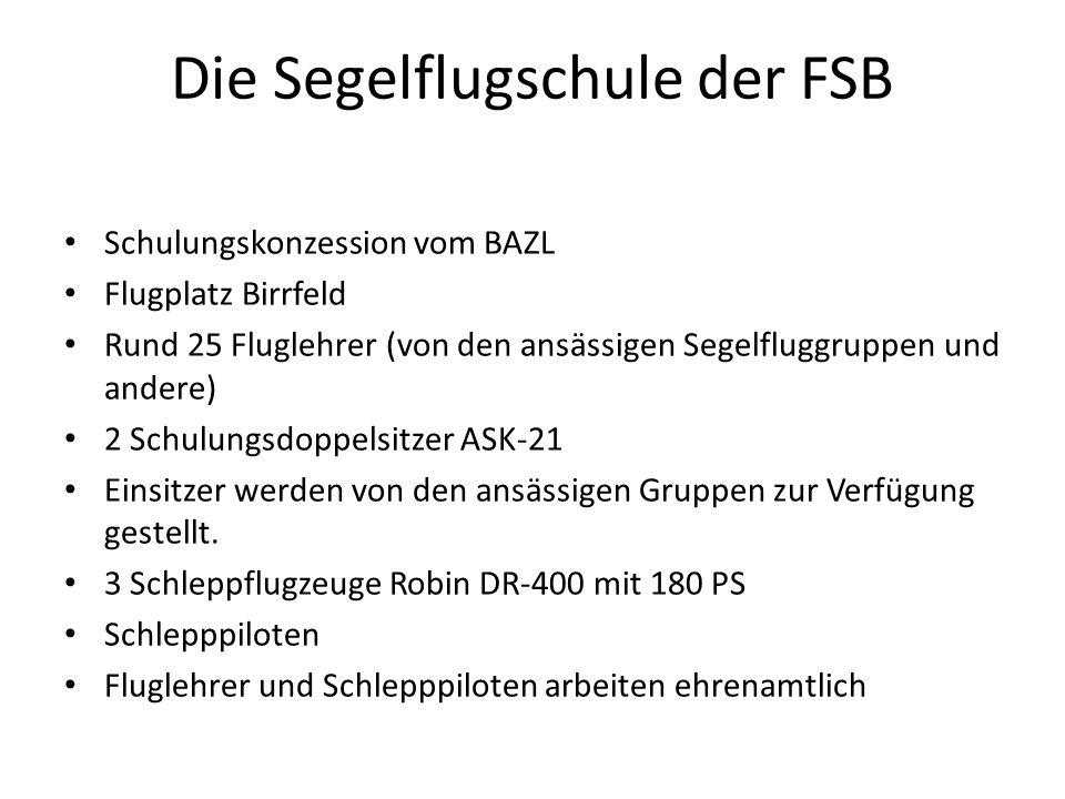 Die Segelflugschule der FSB