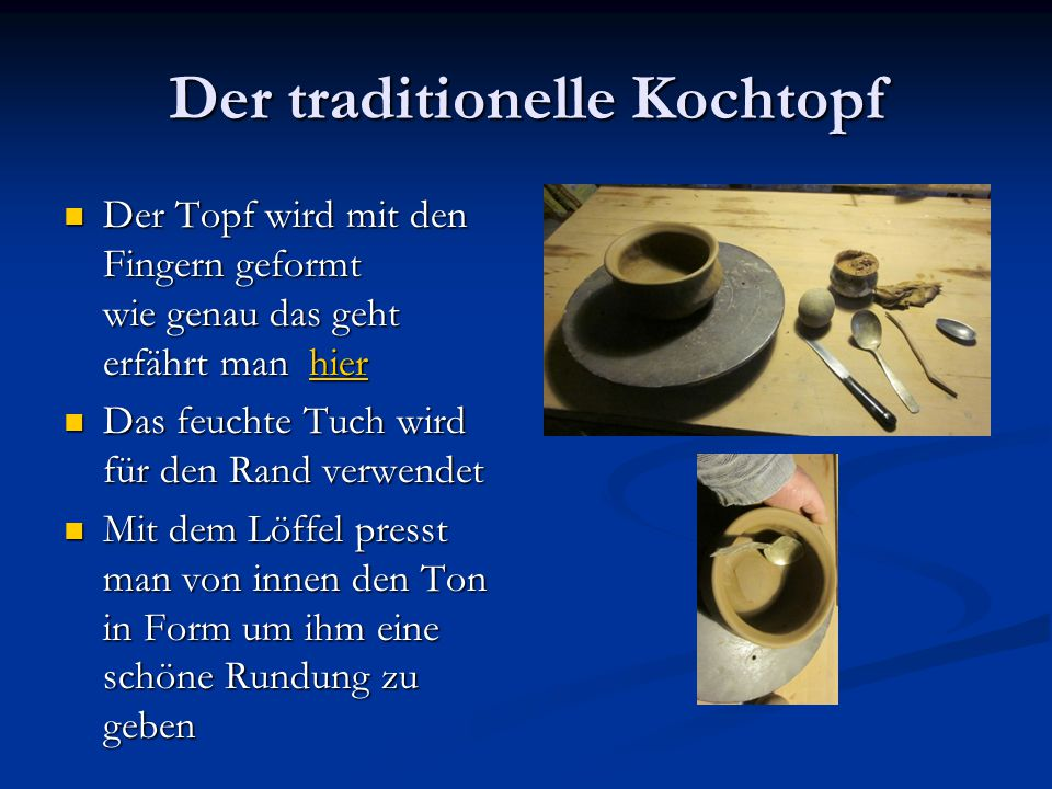 Der traditionelle Kochtopf