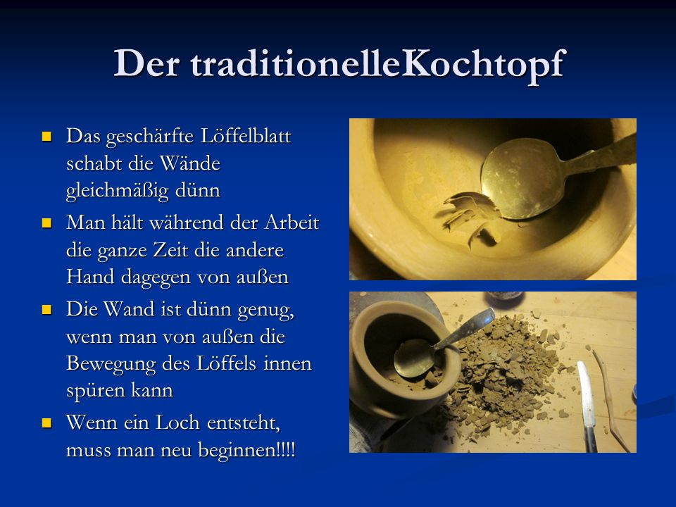 Der traditionelleKochtopf