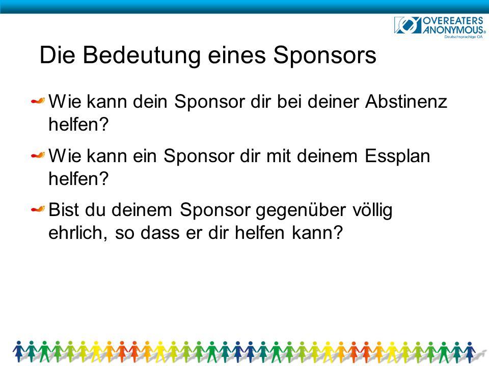 Die Bedeutung eines Sponsors