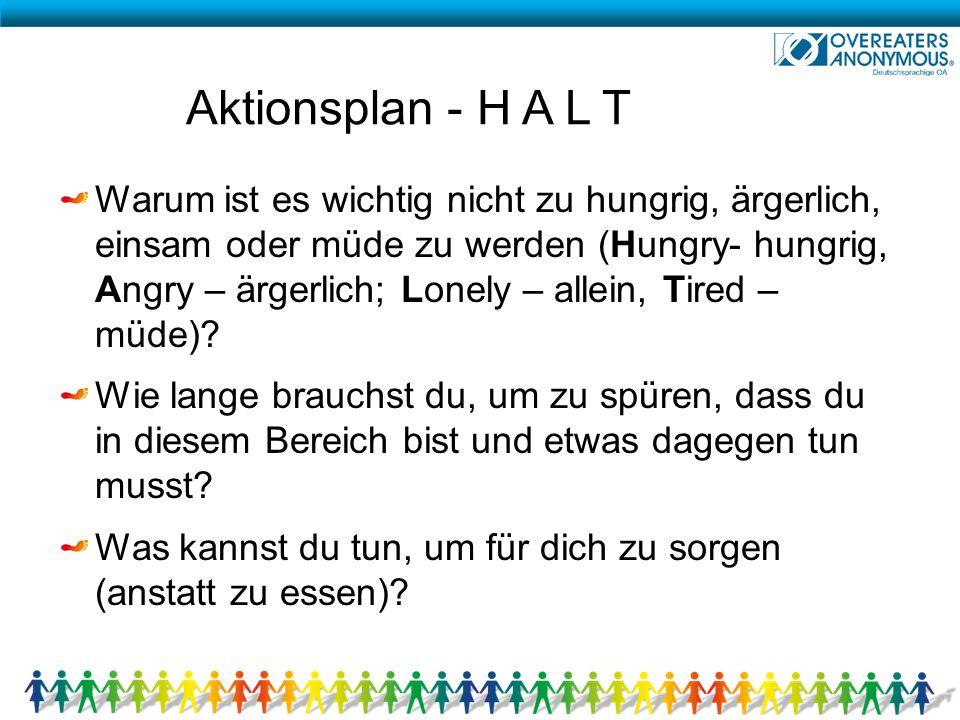 Aktionsplan - H A L T