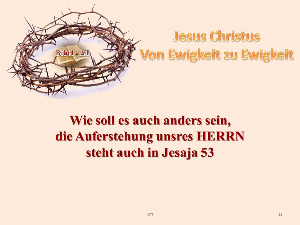 Jesus Christus Von Ewigkeit zu Ewigkeit