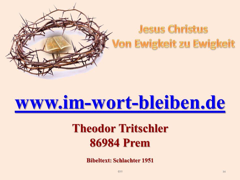 Von Ewigkeit zu Ewigkeit Bibeltext: Schlachter 1951