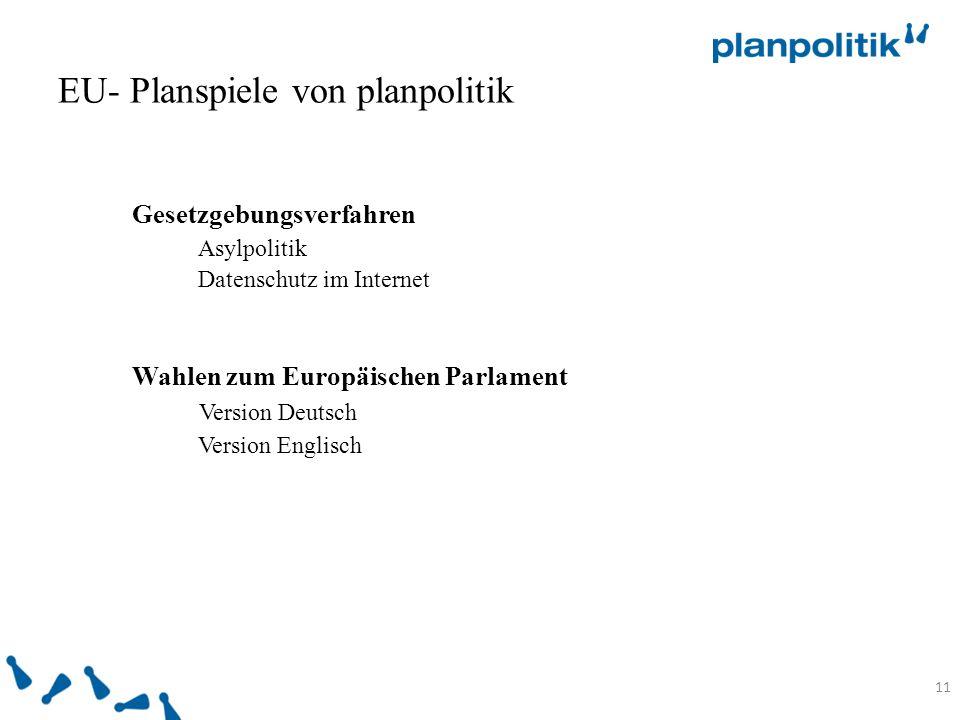 EU- Planspiele von planpolitik